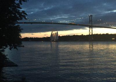 Sailing past Thousand Island Bridge RDV2017 Tallships Regatta