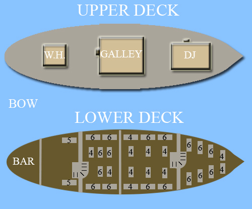 Seating Plan for the Tallship Empire Sandy